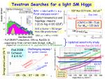 tevatron searches for a light sm higgs