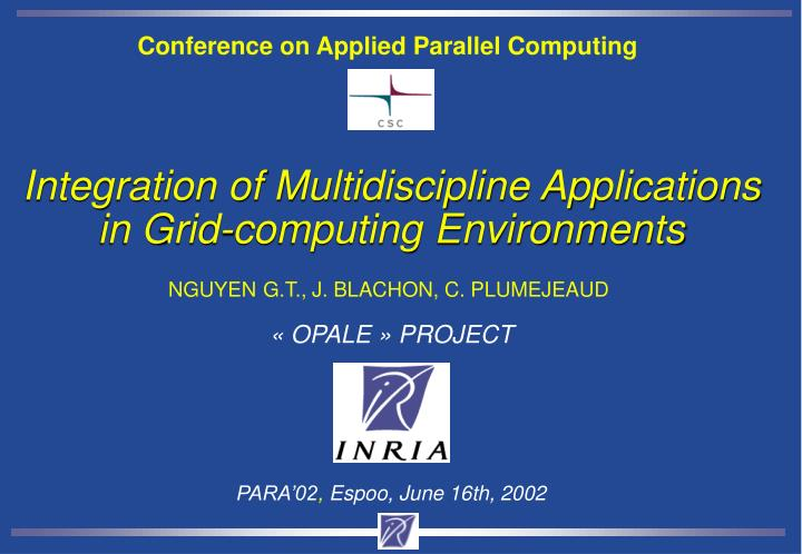 Conference on Applied Parallel Computing