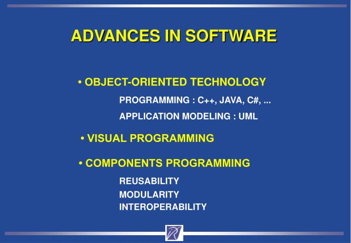 ADVANCES IN SOFTWARE