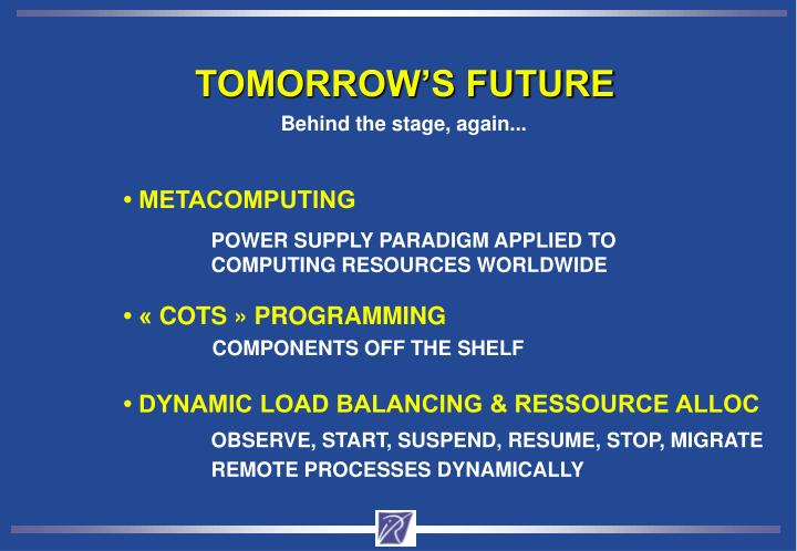 TOMORROW'S FUTURE