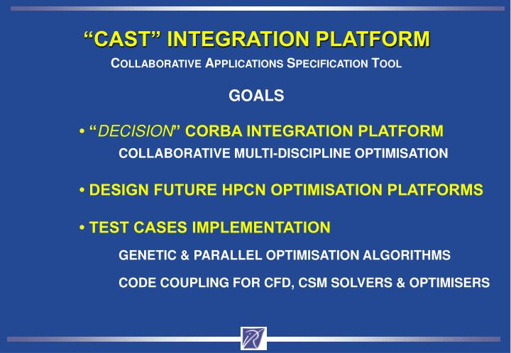 """CAST"" INTEGRATION PLATFORM"