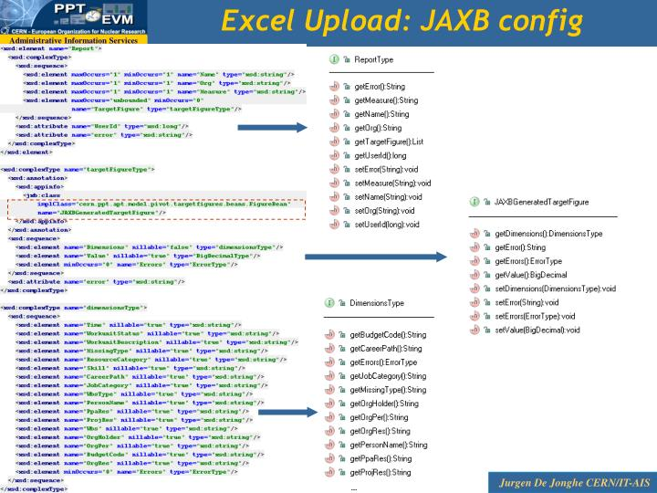Excel Upload: JAXB config