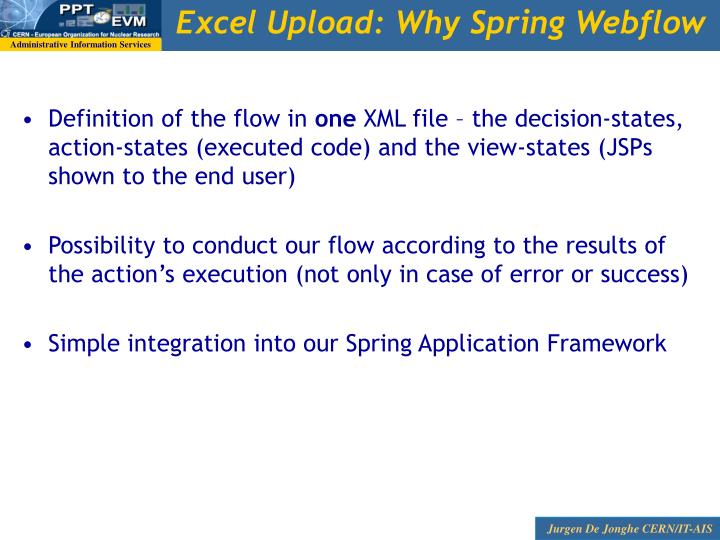 Excel Upload: Why Spring Webflow