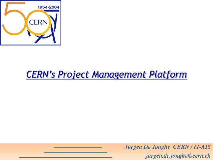 CERN's Project Management Platform