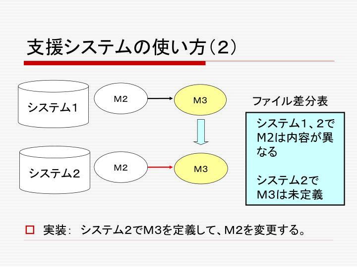 支援システムの使い方(2)