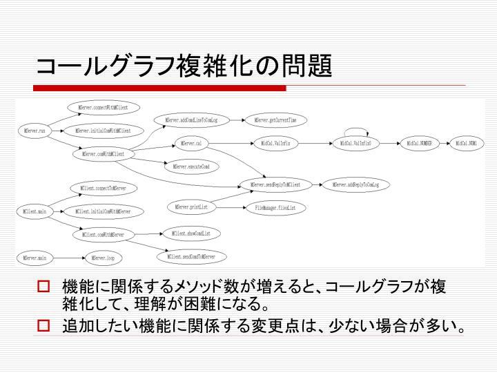 コールグラフ複雑化の問題