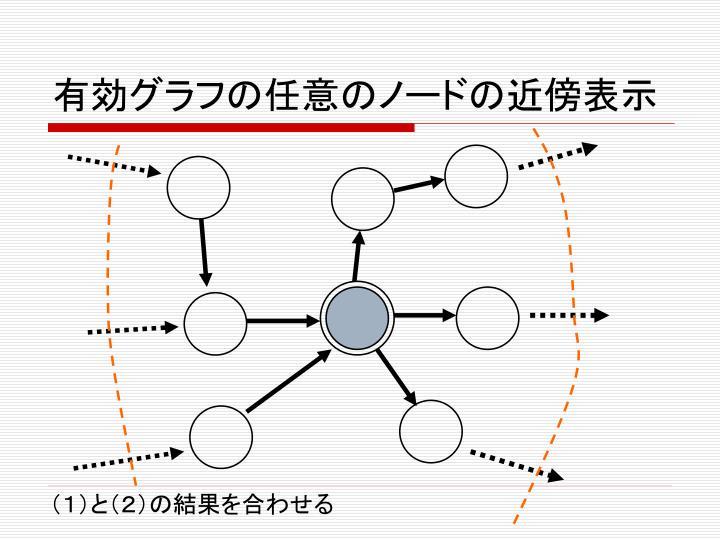 有効グラフの任意のノードの近傍表示