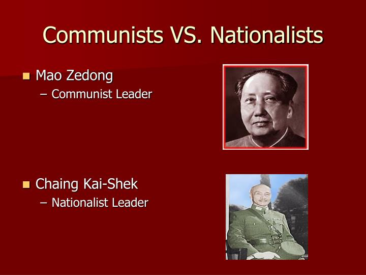 Communists vs nationalists