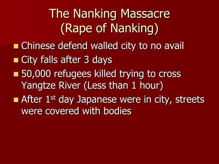 The Nanking Massacre
