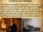 culture and settlers1