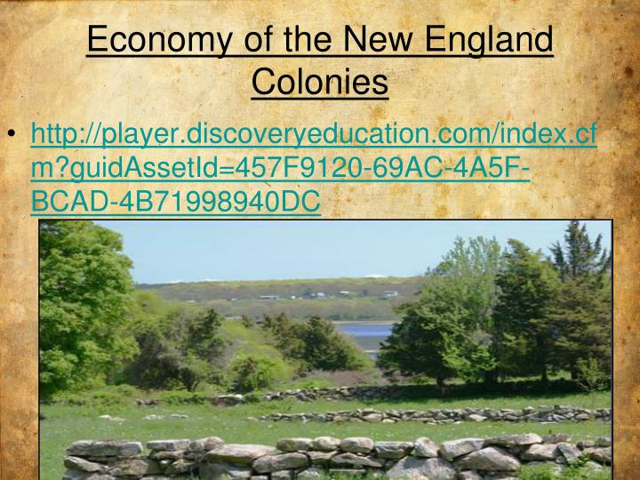 Economy of the New England Colonies