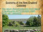 economy of the new england colonies