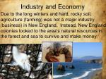 industry and economy