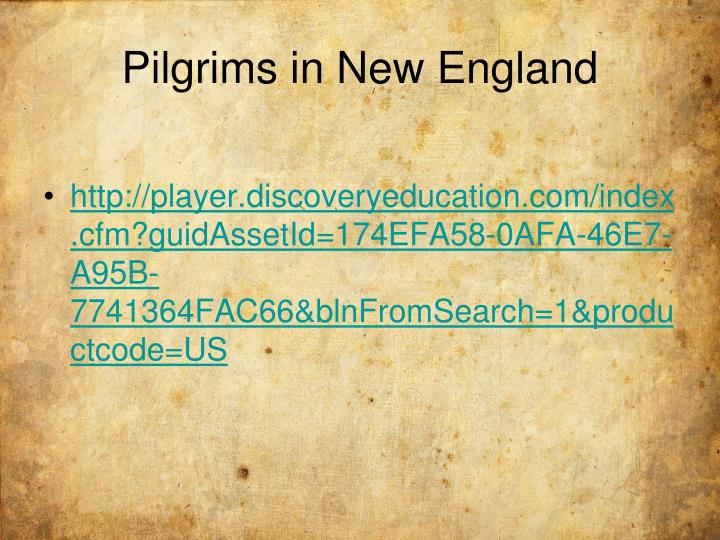 Pilgrims in New England