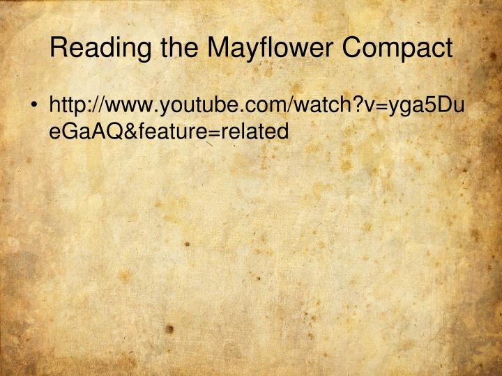 Reading the Mayflower Compact