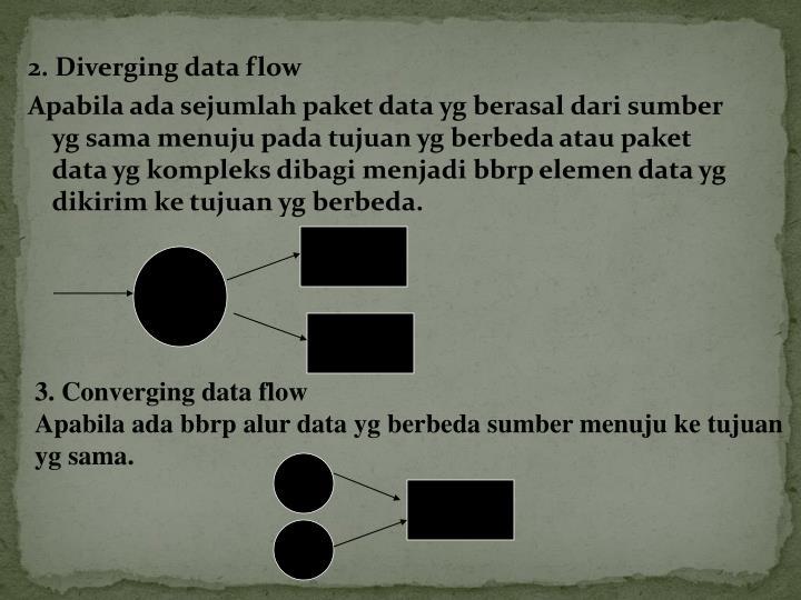 2. Diverging data flow