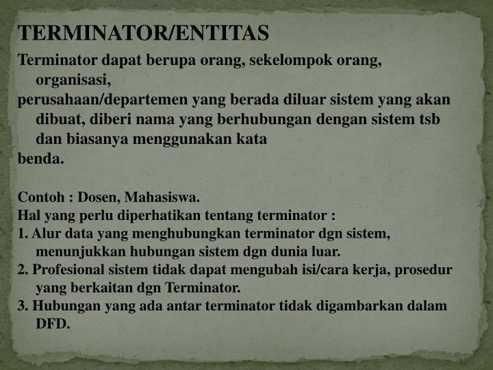 TERMINATOR/ENTITAS