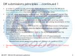 dr submissions principles continued 1