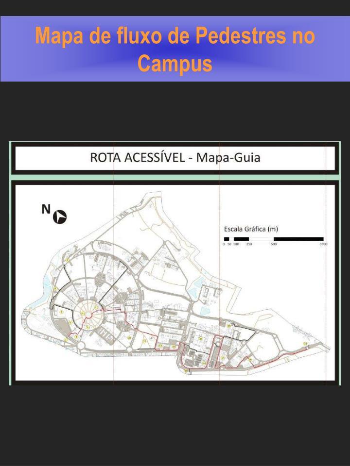 Mapa de fluxo de Pedestres no Campus