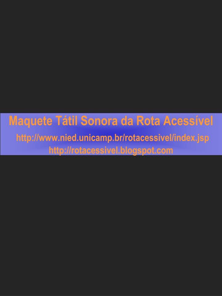 Maquete Tátil Sonora da Rota Acessível