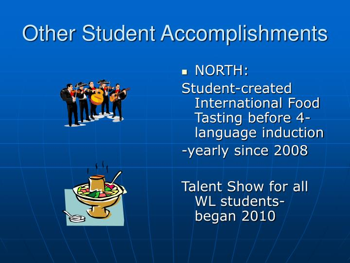 Other Student Accomplishments