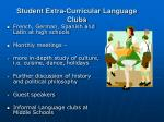 student extra curricular language clubs