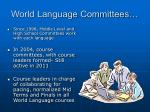 world language committees