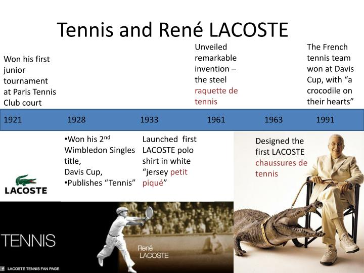 Tennis and ren lacoste