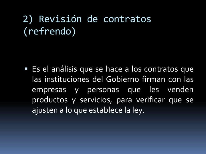 2) Revisión