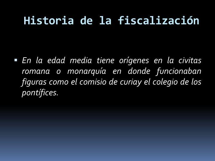 Historia de la fiscalización