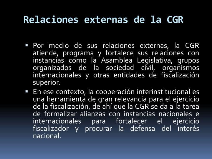 Relaciones externas de la CGR