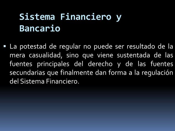 Sistema Financiero y Bancario