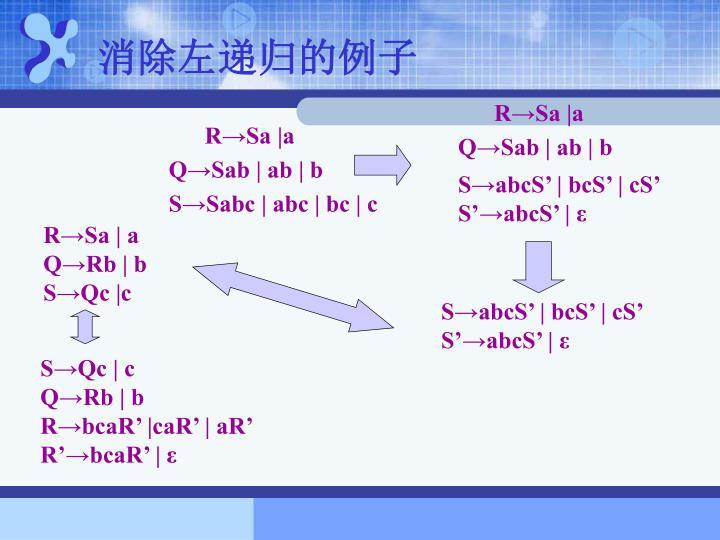 消除左递归的例子