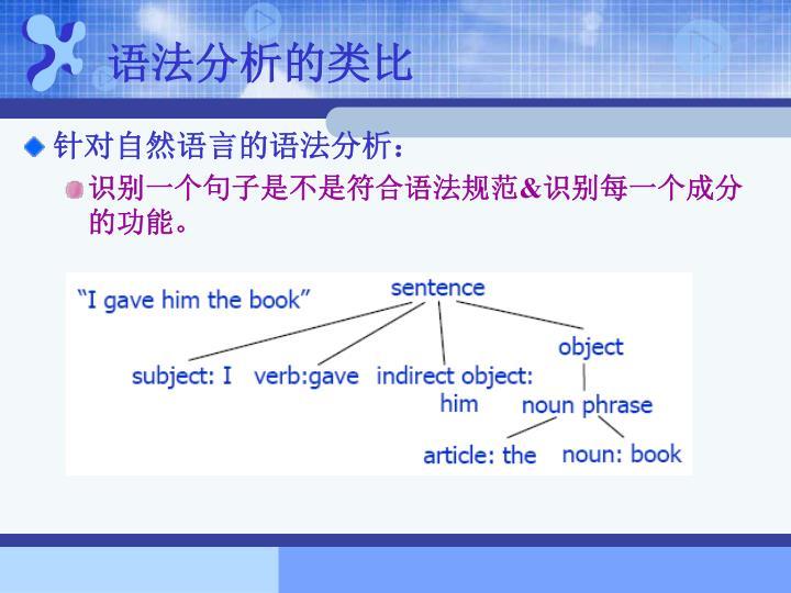 语法分析的类比
