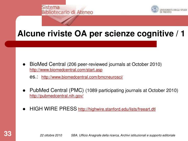 Alcune riviste OA per scienze cognitive / 1