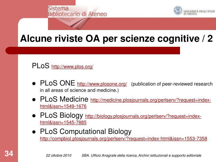 Alcune riviste OA per scienze cognitive / 2