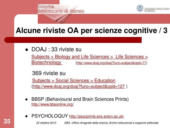 Alcune riviste OA per scienze cognitive / 3