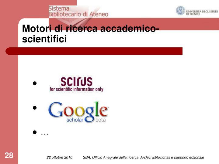 Motori di ricerca accademico-scientifici