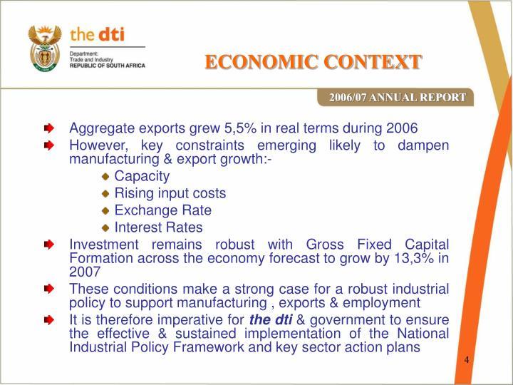 ECONOMIC CONTEXT