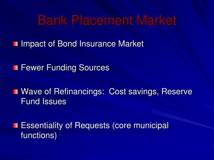 Bank Placement Market