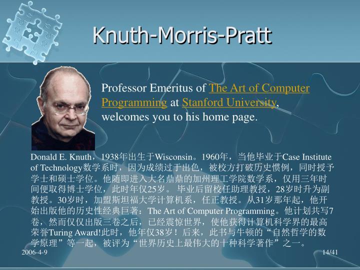Knuth-Morris-Pratt