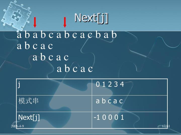 Next[j]