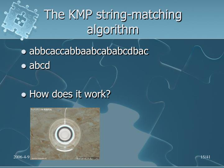 The KMP string-matching algorithm