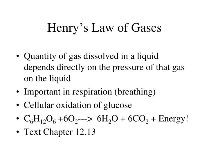Henry's Law of Gases
