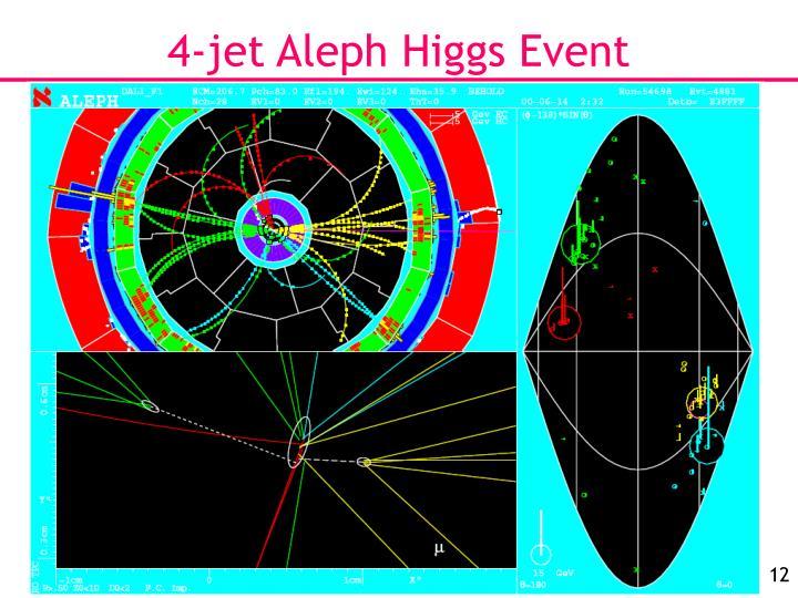 4-jet Aleph Higgs Event
