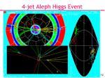 4 jet aleph higgs event