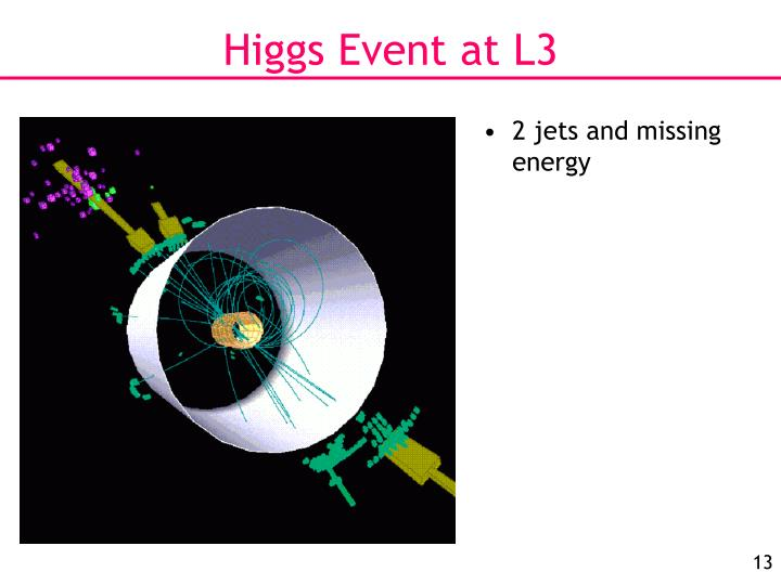 Higgs Event at L3