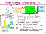 vector boson fusion qqh