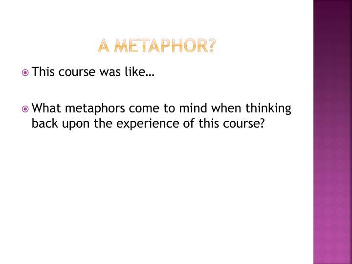 A Metaphor?