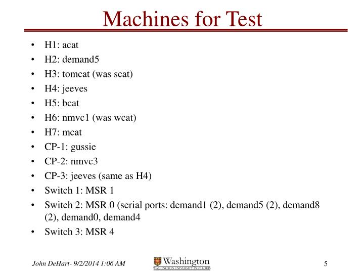 Machines for Test